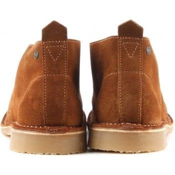 Jack & Jones Gobi Tan Suede Lace Up Desert Boot