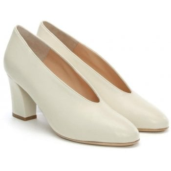 Daniel Aneso White Leather V Front Court Shoes