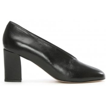Daniel Aneso Black Leather V Front Court Shoe