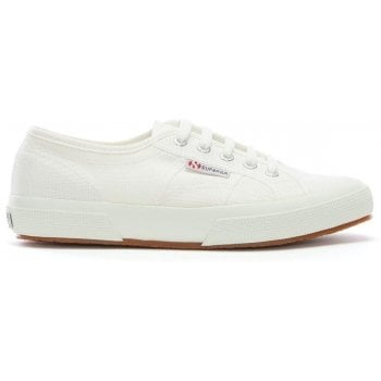 Superga Cotu White Lace Up Trainers