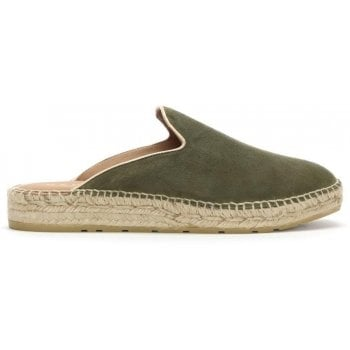 Daniel Invoke Khaki Suede Backless Espadrilles