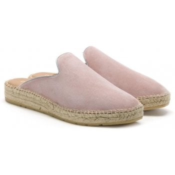 Daniel Invoke Pink Suede Backless Espadrilles