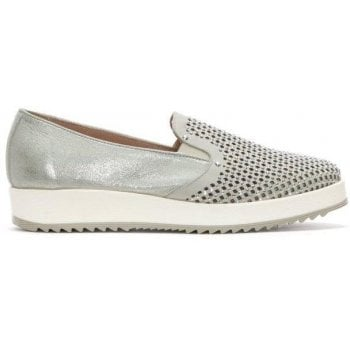 Daniel Ramington Beige Leather Diamante Embellished Pumps