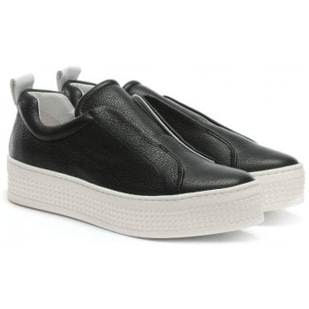 Daniel Spooks Black Leather Laceless Pumps