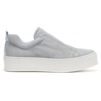 Daniel Spooks Grey Suede Laceless Pumps
