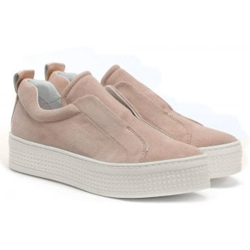 Daniel Spooks Pink Suede Laceless Pumps