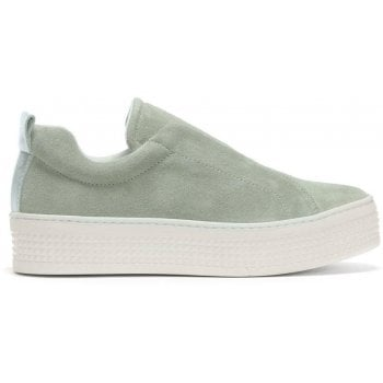 Daniel Spooks Green Suede Laceless Pumps