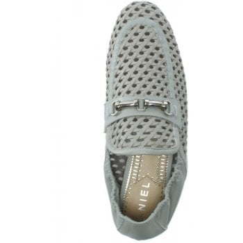 Daniel Ballena Grey Leather Woven Loafers