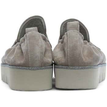 Kennel & Schmenger Cleasby Taupe Suede Glitter Trim Loafers
