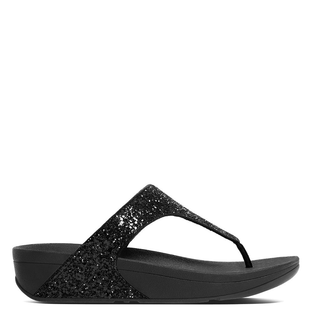 7aa7405e89c4c5 Fitflop Glitterball Black Glitter Toe Post Sandals - Fitflop from  Shoes.co.uk UK