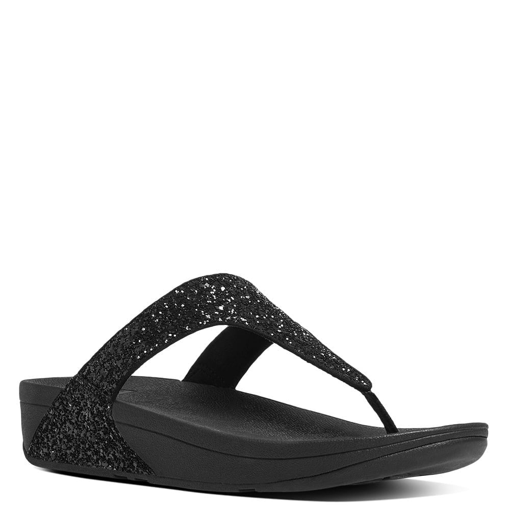 ff7f8214d96 Fitflop Glitterball Black Glitter Toe Post Sandals - Fitflop from  Shoes.co.uk UK