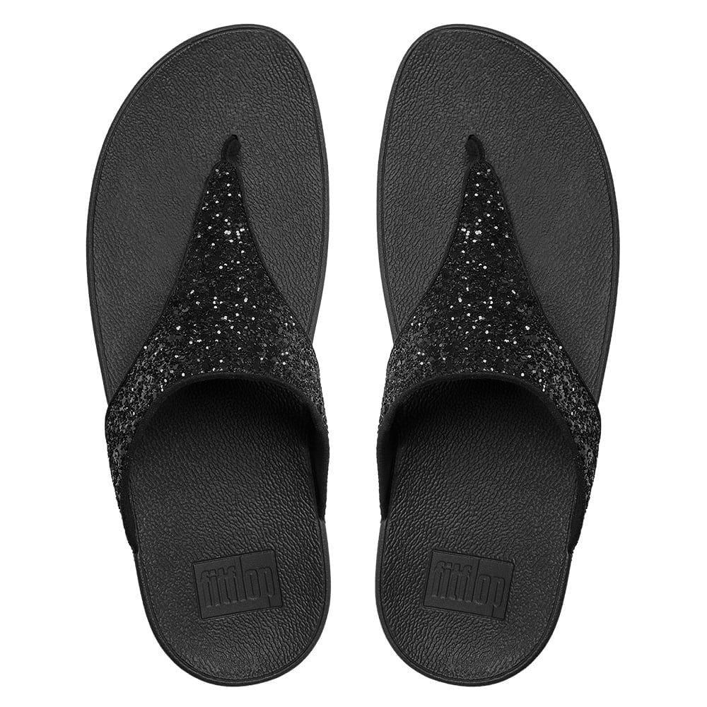 a4bdf8c2124 Fitflop Glitterball Black Glitter Toe Post Sandals - Fitflop from ...
