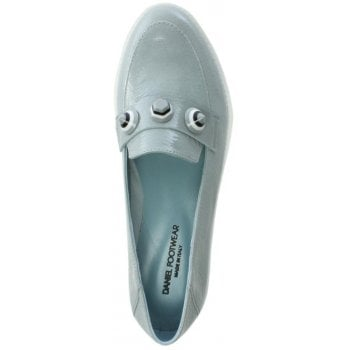 Daniel Impalo Blue Leather Embellished Loafers