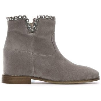 Essienda Grey Suede Concealed Wedge Ankle Boots