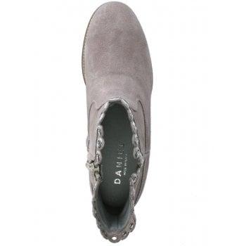 Daniel Essienda Grey Suede Concealed Wedge Ankle Boots