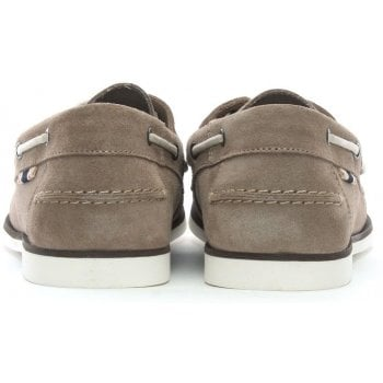 Jack & Jones Anchor Beige Suede Deck Shoes