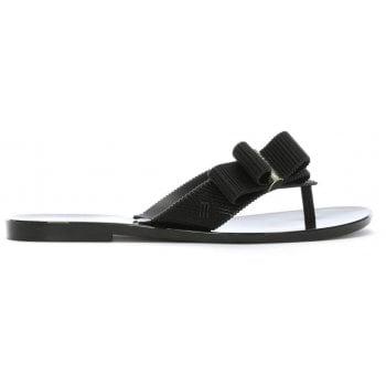 Melissa x Jason Wu Girl Black Flip Flops
