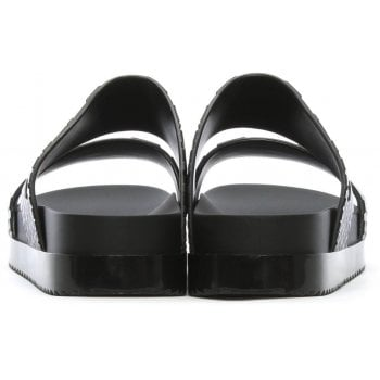 Melissa x Baja East Cosmic Python Black Two Bar Sliders