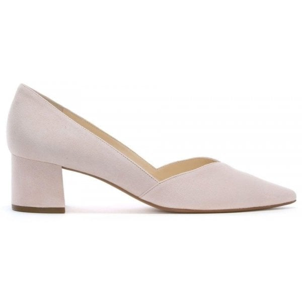 25b3adb4a7f2 Hogl Low Block Heel Pink Suede Court Shoes - Hogl from Shoes.co.uk UK