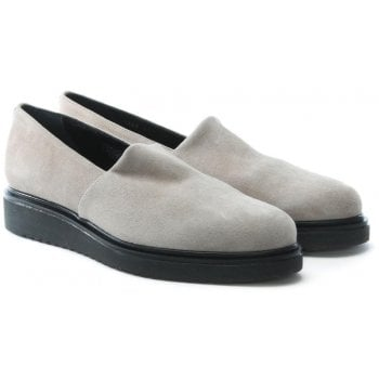 Daniel Zaga Taupe Suede Loafers
