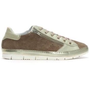 Daniel Kates Taupe Suede Two Tone Trainers