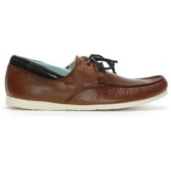 Daniel Barlace Tan Leather Lace Up Loafers