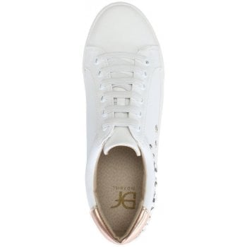 DF By Daniel Tecton White Star Embellished Sneakers