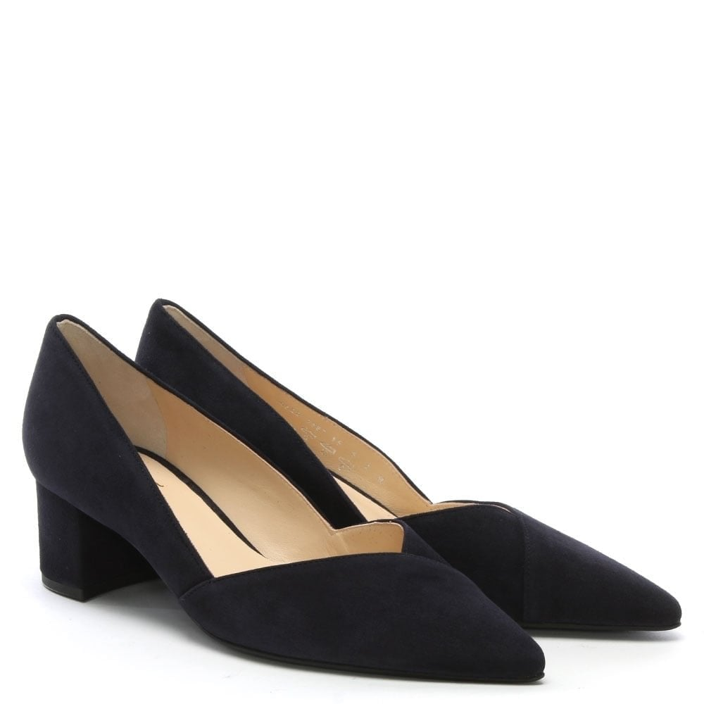 37bbeda1197f Hogl Low Block Heel Navy Suede Court Shoes - Hogl from Shoes.co.uk UK