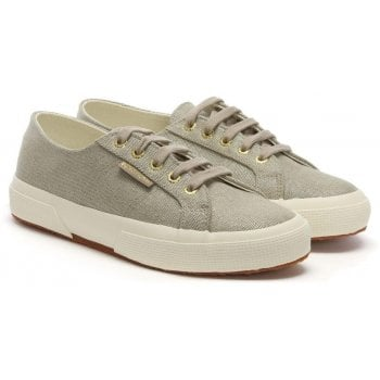 Superga TyeDye Cotu Beige Metallic Lace Up Trainers