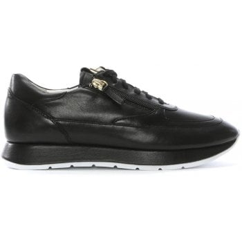 Hogl Black Leather Lace Up Sneakers