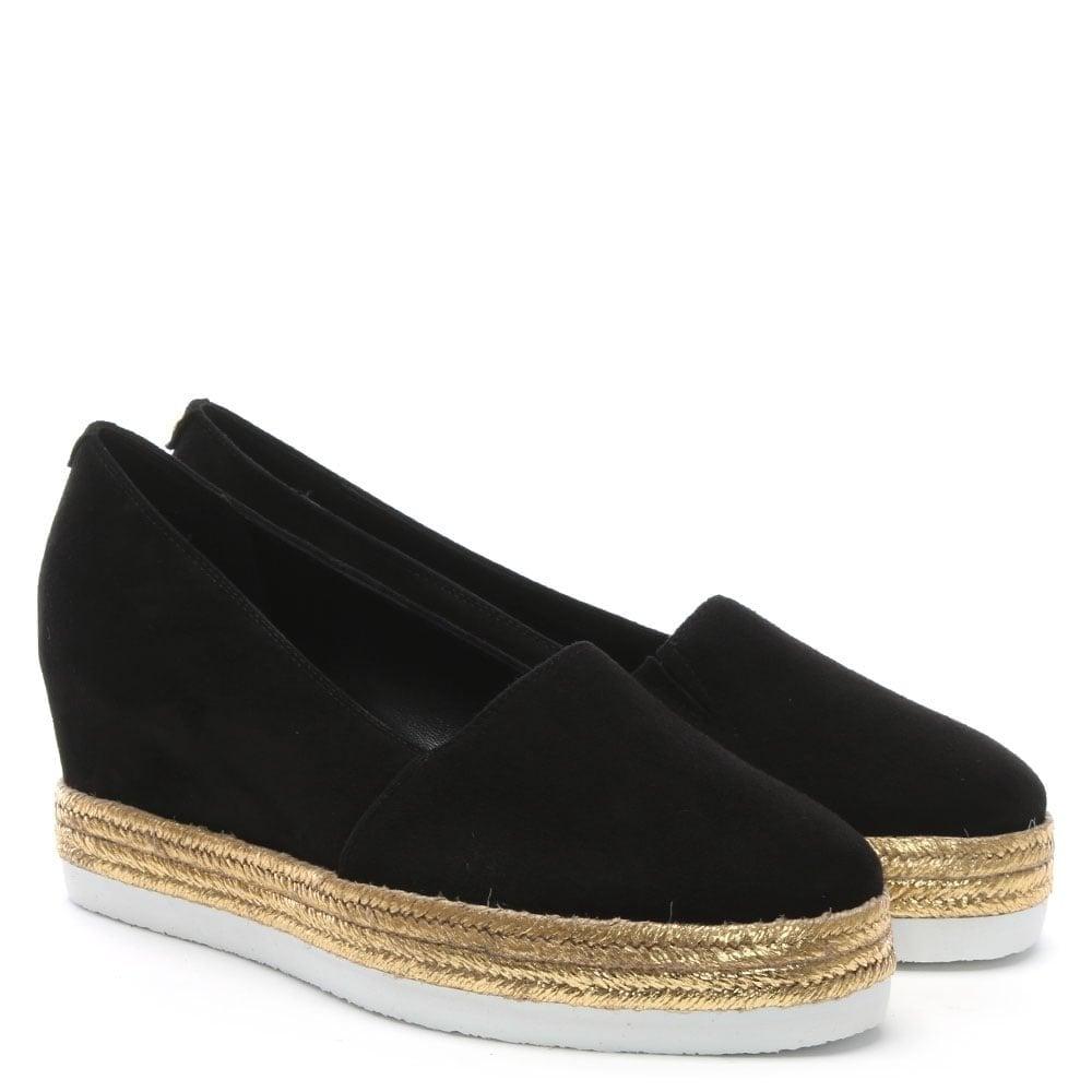 357cc6dca3d85 Hogl Black Suede Concealed Wedge Espadrilles - Hogl from Shoes.co.uk UK