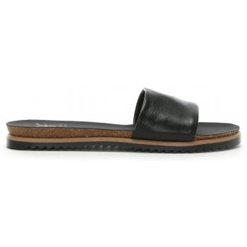 DF By Daniel Colton Black Leather Chunky Strap Mule