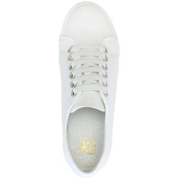 DF By Daniel Hawley White Jewelled Eyelet Sneakers