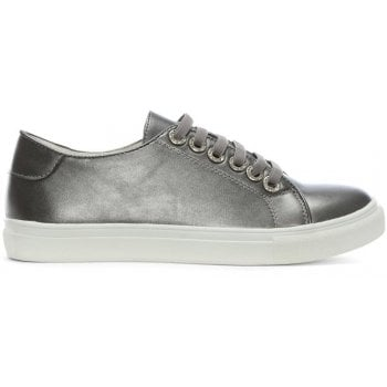 DF By Daniel Hawley Pewter Jewelled Eyelet Sneakers