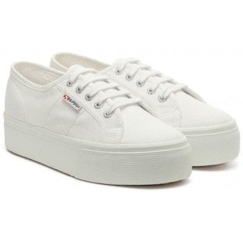 Superga Acota White Linea Up Down Flatform Trainers