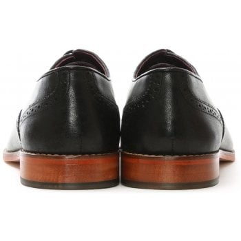 Gucinari Black Leather Toe Trim Brogues
