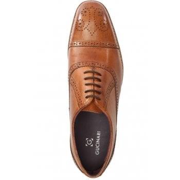 Gucinari Tan Leather Toe Trim Brogues