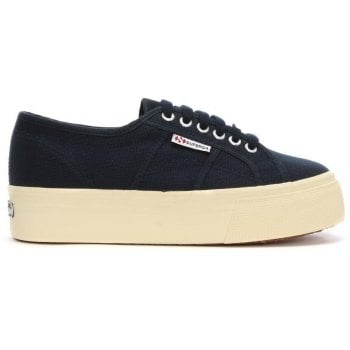 Superga Acota Navy Linea Up Down Flatform Trainers