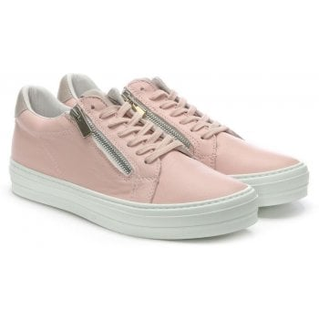 Daniel Sweets Pink Leather Lace Up Trainers