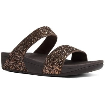 Fitflop Glitterball Bronze Slide Sandals