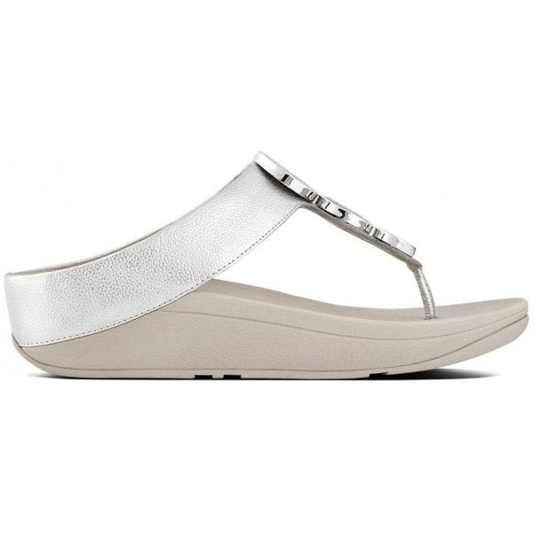 Halo Silver Leather Toe Post Sandals
