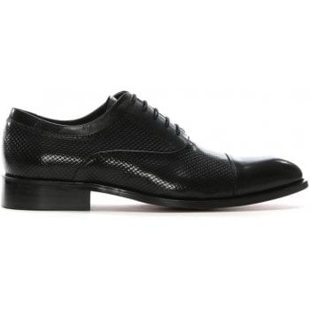 Daniel Winsham Black Leather Hole Punch Lace Up Shoes