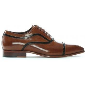 Daniel Weycroft Tan Leather Contrast Trim Lace Up Shoes