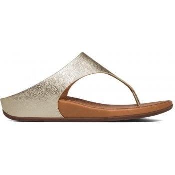 Fitflop Banda Gold Leather Toe Post Sandals