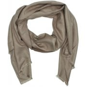 Daniel Luxe Silk Mix Taupe Scarf