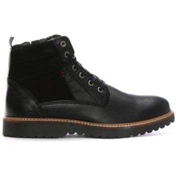 Daniel Reid Black Leather Lace Up Ankle Boots