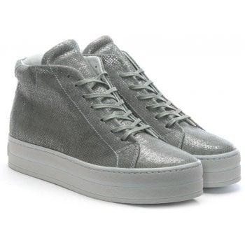 Daniel Salix Grey Metallic Leather Flatform High Tops