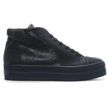 Daniel Salix Navy Metallic Leather Flatform High Tops