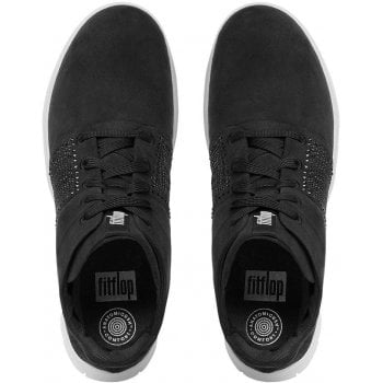 Fitflop Crystal Black Suede High Top Trainers