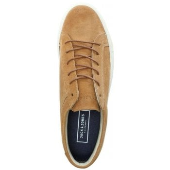 Jack & Jones Galaxy Tan Suede Lace Up Trainers